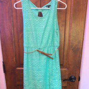 My Michelle Girls Teal Hi-Low Dress